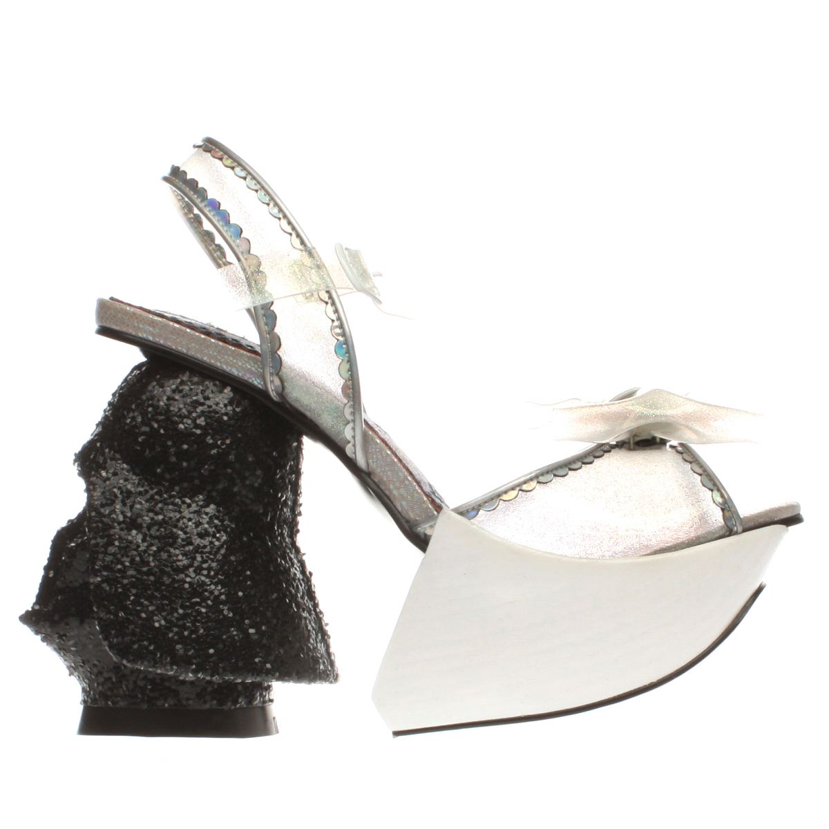 irregular choice white & black dark empire high heels