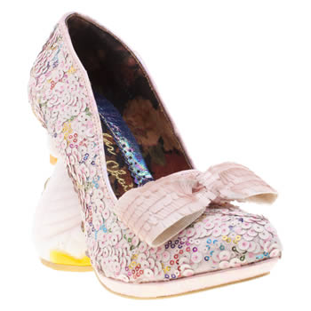 Irregular Choice Pale Pink Savan Womens High Heels
