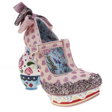 Irregular Choice Pale Pink Alice My Cup Of Tea Womens High Heels