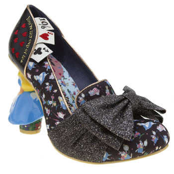 Irregular Choice Black and blue Alice Wonderland This Way High Heels