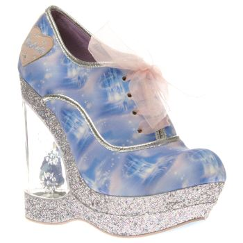 Irregular Choice Blue Cinderella Call Me Cinders Womens High Heels