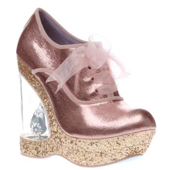 Irregular Choice Pale Pink Cinderella Home Before 12 Womens High Heels
