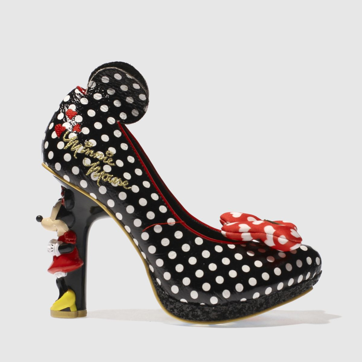 irregular choice black & white x disney oh my! high heels