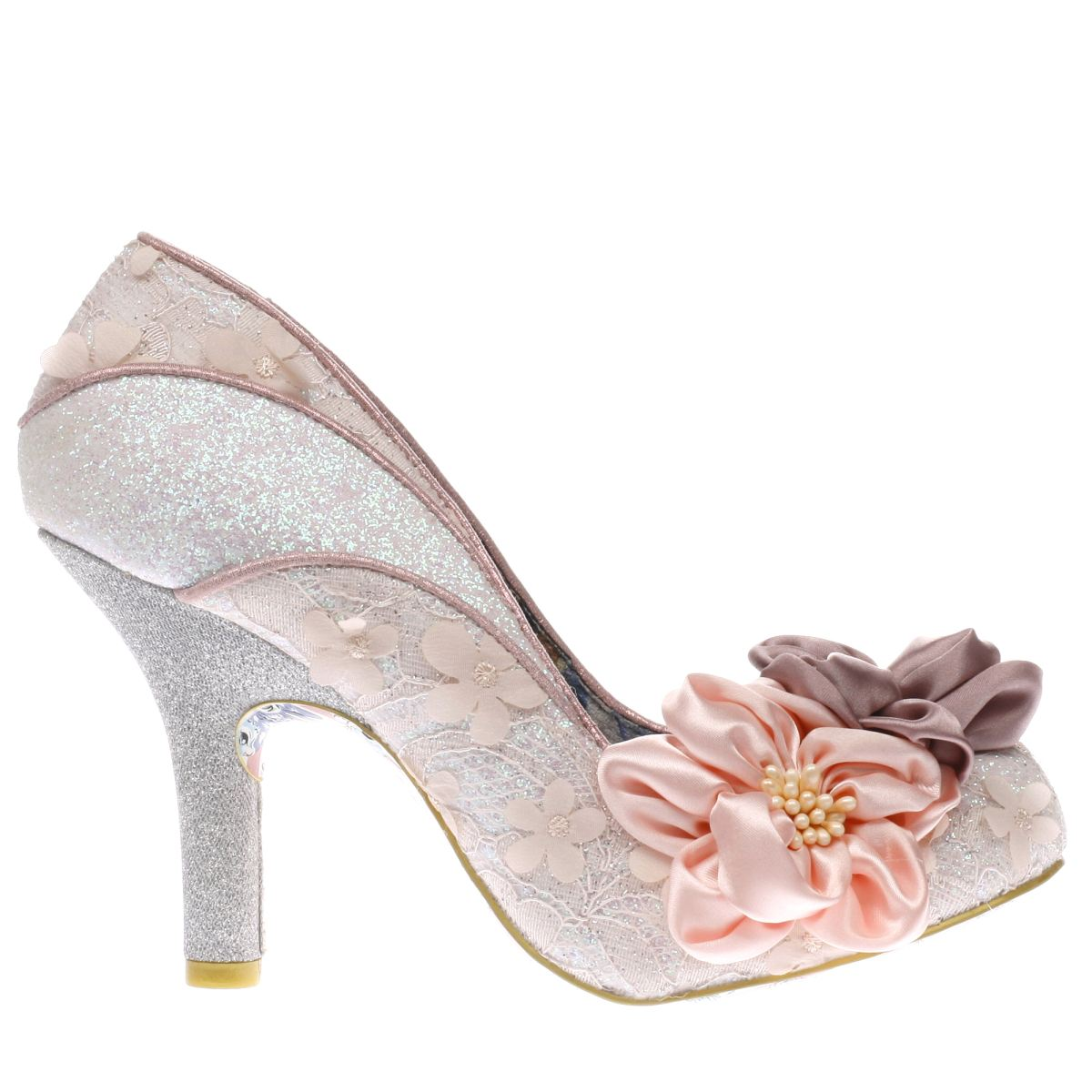 irregular choice pale pink peach melba high heels
