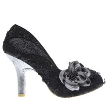 Irregular Choice Black & Silver Peach Melba High Heels