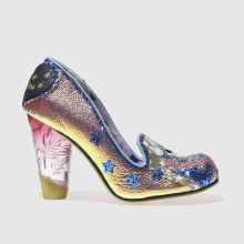 Irregular Choice Pink & Silver Lady Misty Womens High Heels