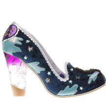 Irregular Choice Navy & Pl Blue Stars At Night Womens High Heels