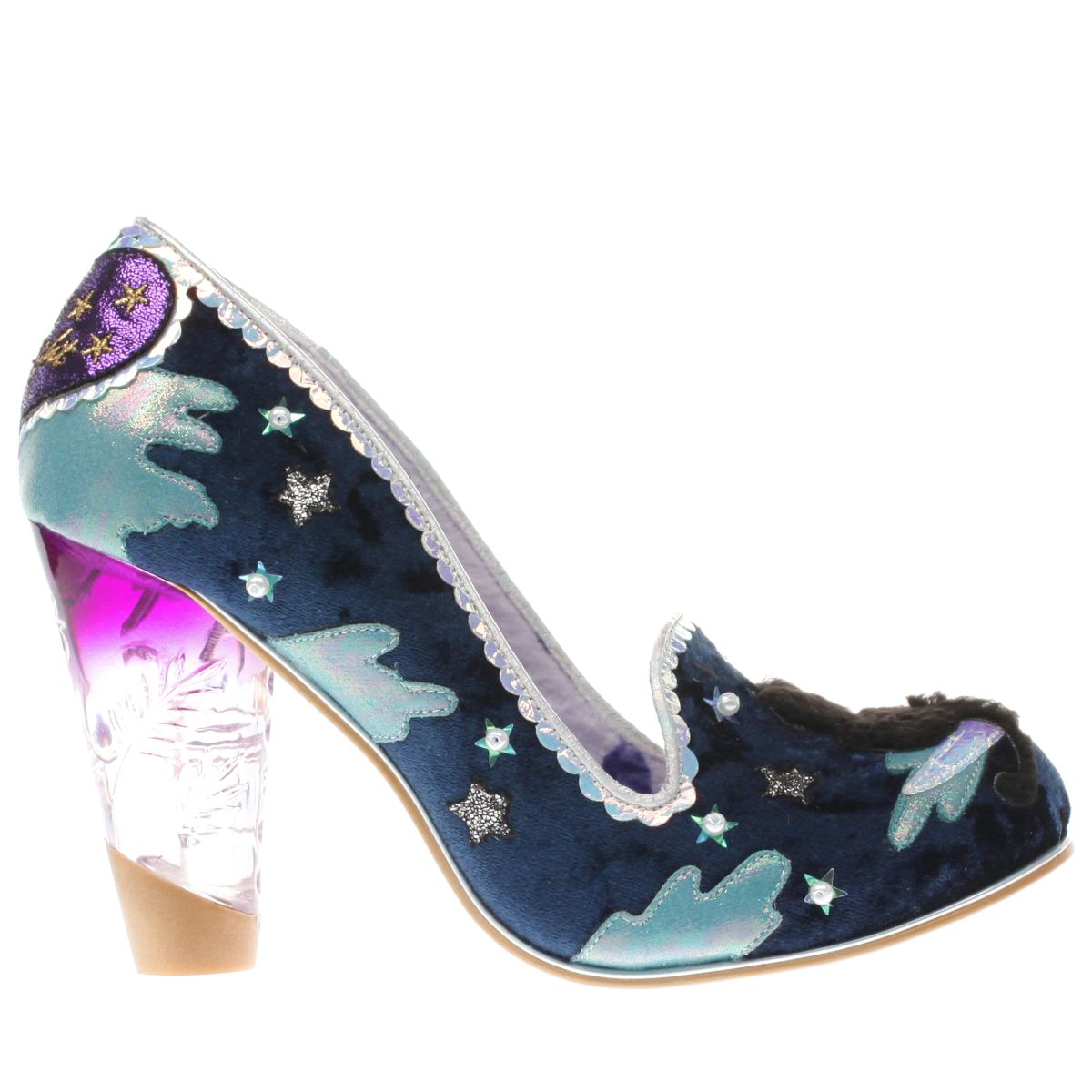 irregular choice navy & pl blue stars at night high heels