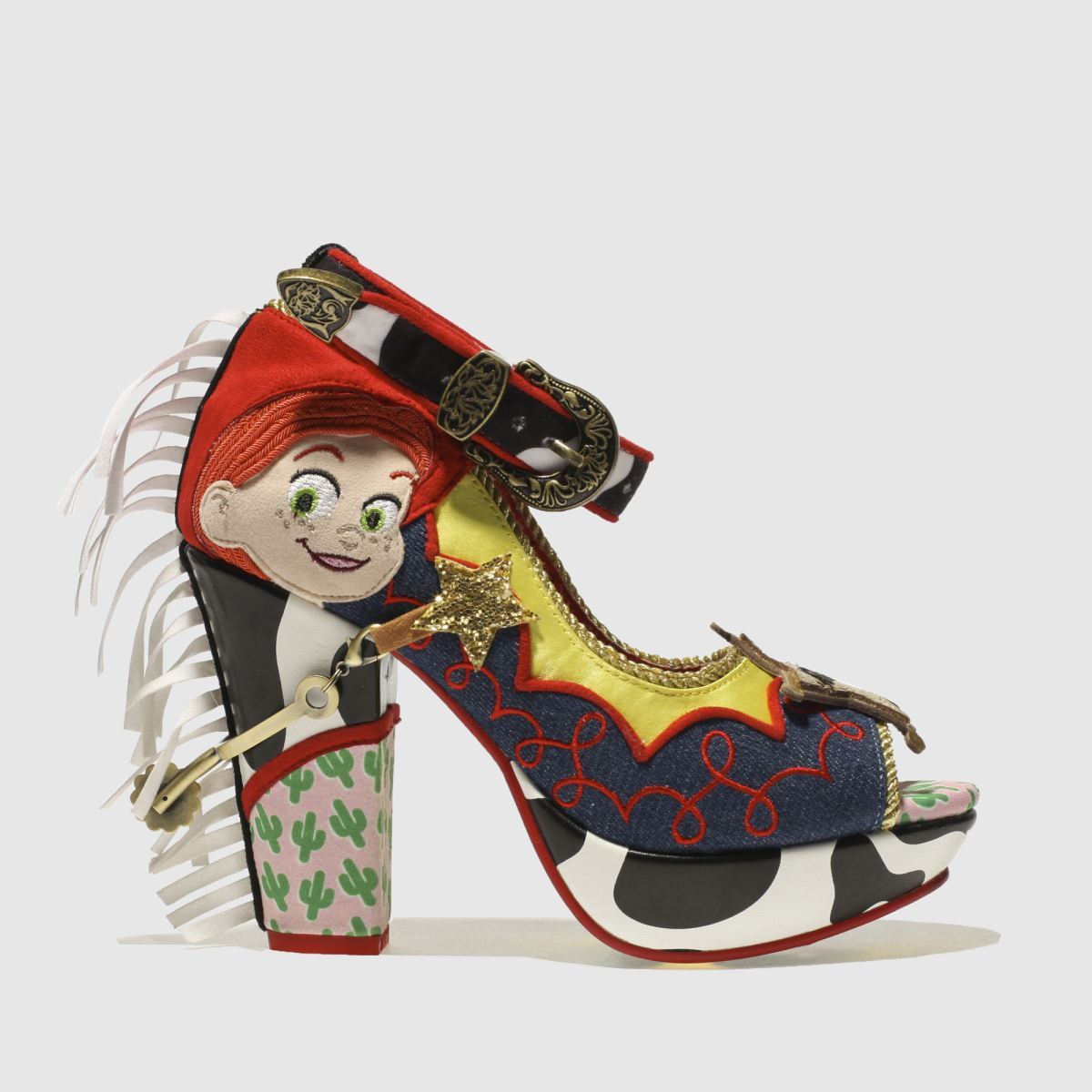 Irregular Choice Irregular Choice Red & Yellow Rootinest Tootinest Cowgirl High Heels