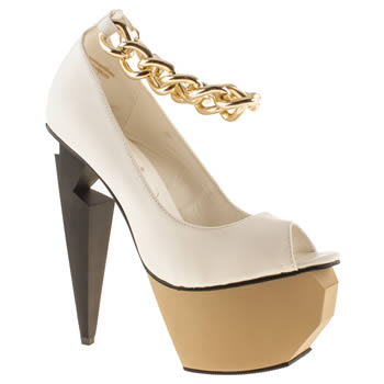 Womens Privileged White Mercer High Heels