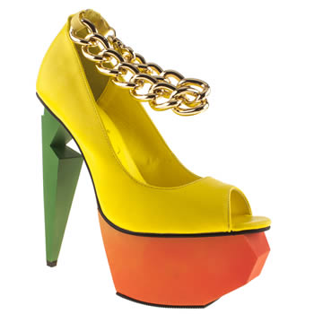 womens privileged yellow mercer high heels