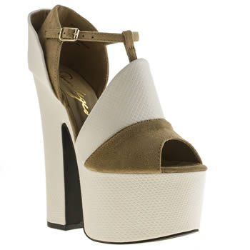 Womens Privileged White Barty High Heels