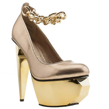 Privileged Gold Twee High Heels