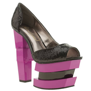 Womens Privileged Black & pink Caviar High Heels
