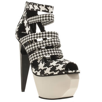 Privileged Black & White Melia High Heels