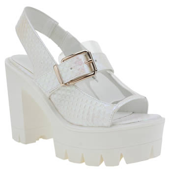 Privileged White & Pink Harrd High Heels