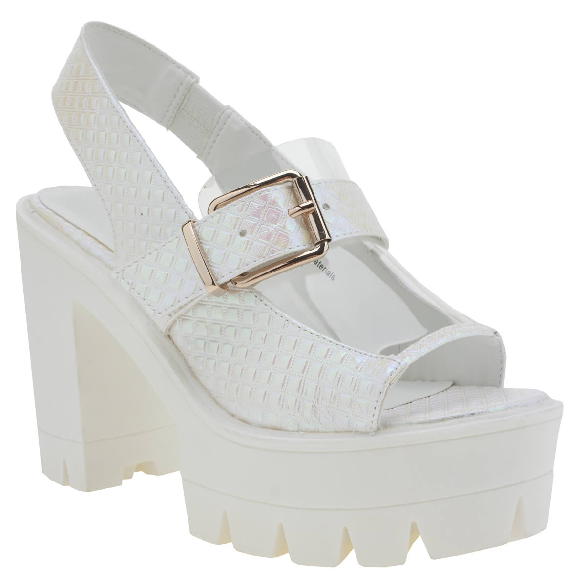 privileged Privileged White & Pink Harrd High Heels
