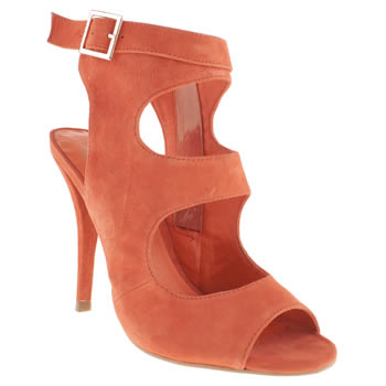 Womens Red Or Dead Orange Say You Will High Heels