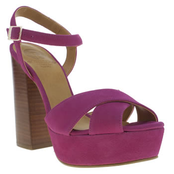 Womens Red Or Dead Pink Wisconsin High Heels