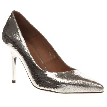 Red Or Dead Silver Raquel High Heels