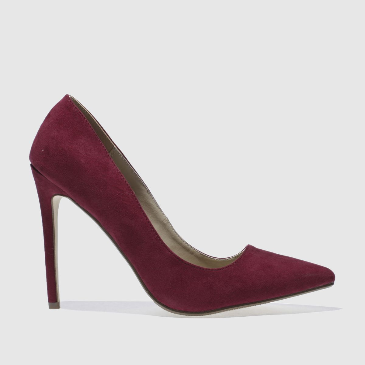 Missguided Burgundy Point Toe Court High Heels