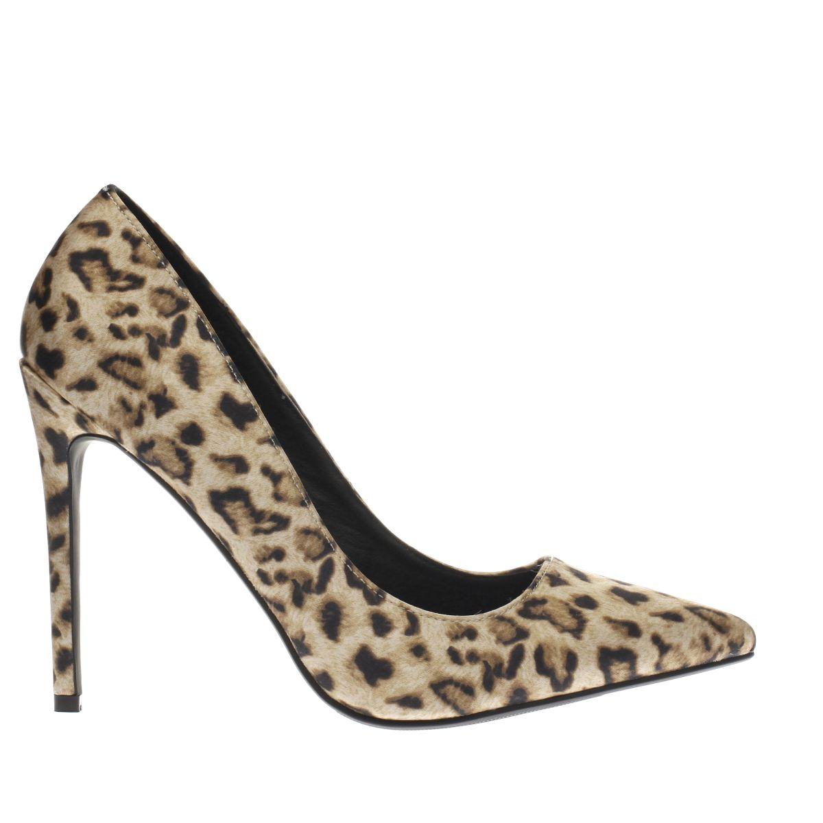 missguided beige & brown point toe high heels