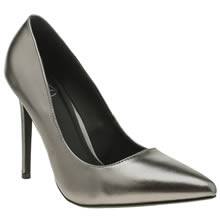 Missguided Pewter Point Toe Court Womens High Heels