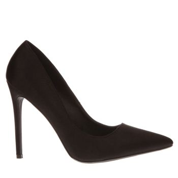 Missguided Black Point Toe Court Womens High Heels