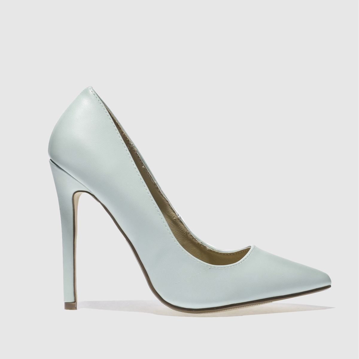 missguided Missguided Pale Blue Point Toe Court High Heels