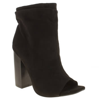 Missguided Black Ruched Peep Toe Womens High Heels