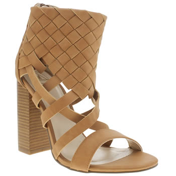 Missguided Tan Woven Ankle Cuff High Heels