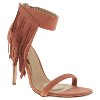 Womens Missguided Burgundy Asymmetric Tassle High Heels