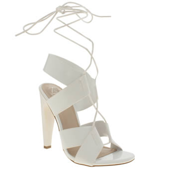 Missguided White Lace Strap High Heels