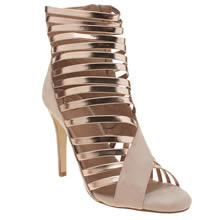 Missguided Rose Gold Strappy Sandal Womens High Heels
