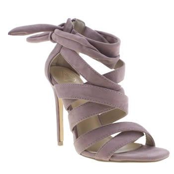 Missguided Purple Ankle Gladiator Womens High Heels