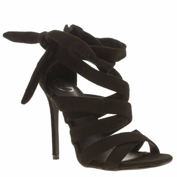 Missguided Black Ankle Gladiator Womens High Heels