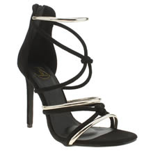 Missguided Black Knotted Sandal Womens High Heels