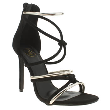 Missguided Black Knotted Sandal High Heels