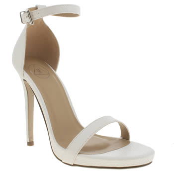 Missguided White Barely There High Heels