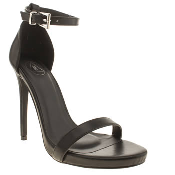 Missguided Black Barely There High Heels