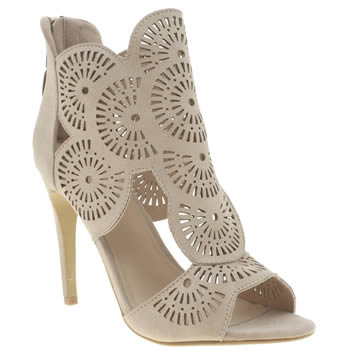 Missguided Natural Laser Cut Out Womens High Heels