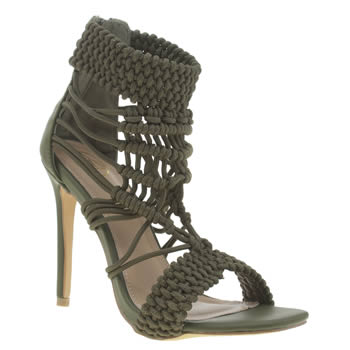 Missguided Khaki Origami Rope High Heels