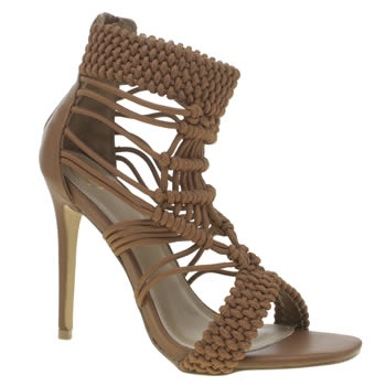 Missguided Tan Origami Rope High Heels