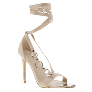 Missguided Natural Wrap Strap Sandal High Heels