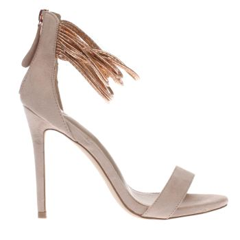 Missguided Pale Pink Ankle Barely There High Heels