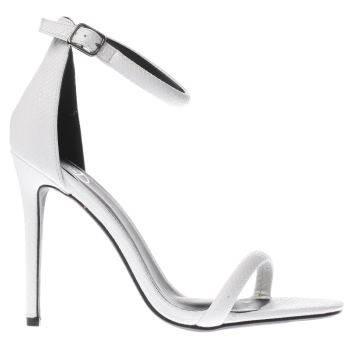 Missguided White Strap Barely There Womens High Heels