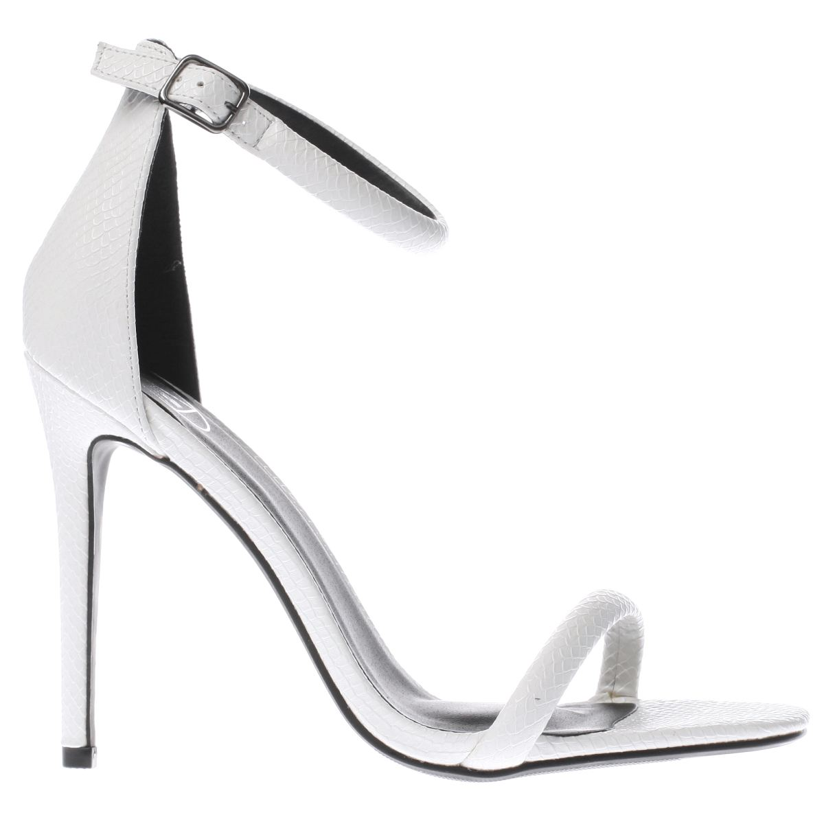 missguided white strap barely there high heels