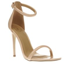 Missguided Natural Strap Barely There High Heels