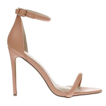 Missguided Pink Strap Barely There Womens High Heels