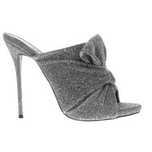 Missguided Pewter Knotted Front Mule Womens High Heels
